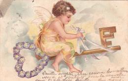 Un Ange Sur La Clef Du Paradis - Carte Gauffrée - 1903 - Anges