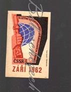 31-154 CZECHOSLOVAKIA 1962 Sport - Spartakiade Allied Army Of The Warsaw Pact - Sign - Hand With A Machine Gun - Zündholzschachteletiketten