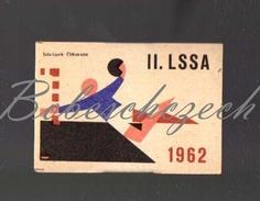 31-155 CZECHOSLOVAKIA 1962 Sport - Spartakiade Allied Army Of The Warsaw Pact - Handball Balonmano - Zündholzschachteletiketten