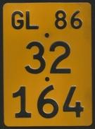 Velonummer Mofanummer Glarus GL 86 - Plaques D'immatriculation