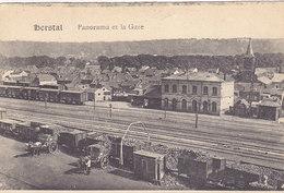 Herstal - Panorama Et La Gare (animée, Déchargement Des Wagons, Chevaux) - Herstal