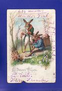 Heureuse Paques HISTOIRE DE LAPINS 1903  ( DEFAUTS Visibles Scan  TB TENUE)  Ww992) - Easter