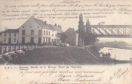 Herstal - Bords De La Meuse. Pont De Wandre (café Du Progrès, Animée, A H J, Précurseur, 1902) - Herstal