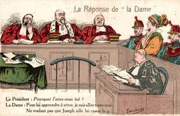 LA REPONSE DE LA DAME ILLUSTRATION SIGNEE FORCHAN - Satiriques