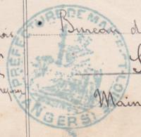 """Cachet Double Couronne """"Préfecture Maine & Loire, Angers"""" Voir Mention Manuscrite """" Vu Autorisation De Ditribuer"""" - WW I"""