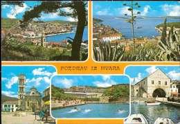 Hvar Mehrbildkarte - Jugoslawien