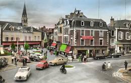 CPSM-ARGENTON-sur-CREUSE (36)-Aspect De La Place De La République Et Du Café Le Pourquoi Pas En 1960 -Voitures Anciennes - Autres Communes