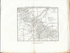 Petit Atlas National Des Départements - Carte Routière Du Département Du Nord - Cartes Routières