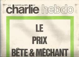G-I-E , CHARLIE HEBDO , N° 2 , 30 Nov. 1970 , Le Prix Bête & Méchant à MARCELLIN , 2 Scan - Politique