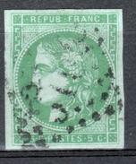 Y & T N°42B, OBLITERE, VERT GRIS - 1870 Emissione Di Bordeaux
