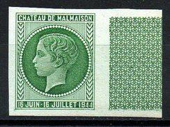 RARE SUPERBE ESSAI CHATEAU MALMAISON VERT NON DENTELE NEUF** BDF Cote 150 € - Unused Stamps