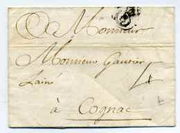 MP  BORDEAUX   Avec B Courroné   / 1732 / Taxe Manuscrite Sur Le Recto 4 Sols - 1701-1800: Precursores XVIII