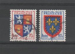 FRANCE / 1953 / Y&T N° 958/959 : 6ème Série Armoiries De Province (Gascogne Et Berri) - Choisis - Tous Cachet Rond - Usados