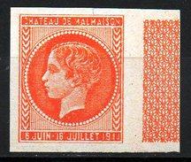 RARE SUPERBE ESSAI CHATEAU MALMAISON ORANGE NON DENTELE NEUF** BDF Cote 150 € - Unused Stamps