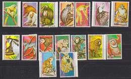 Guinea Equatorial Monkeys 16v Used (34019) - Equatoriaal Guinea