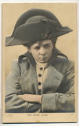 Carte Bas Relief Photo Tres Gros Gaufrage Miss Maude Adams Actress Born In Salt Lake City Lesbian Tranvestite Napoleon - Cartes Postales