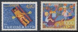 Jugoslavija Yugoslavia 1977 Mi 1697 /8 YT 1583 /4 ** Children's Paintings /  Kinderzeichnungen : Bather + Apple Picking - Kindertijd & Jeugd