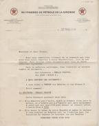 Facture Lettre (1938) - Raffineries De Pétrole De La Gironde - France