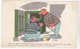 Huile BP Special Energol Par Huche - Humour  Voleurs Coffre Fort  - CPSM  9x14 BE  Neuve - Publicité