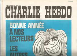 G-I-E , CHARLIE HEBDO , N° 6 , 28 Dec. 1970 , Bonne Année à Noslecteurs , Les Autres Vous Pouvez CREVER  , 2 Scan - Politik