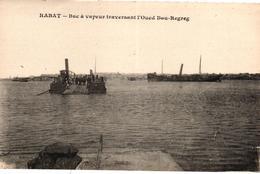 MAROC - RABAT - BAC A VAPEUR TRAVERSANT L'OUED BEU BEGREG - Rabat