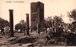 MAROC - RABAT - LA TOUR HASSAN ET LES RUINES DE LA MOSQUEE - Rabat