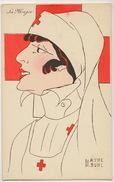 Infirmiere Croix Rouge Signée Marthe Buhl Le Major Guerre 14 Red Cross Nurse WWI Serie Nos Infirmières - Croix-Rouge