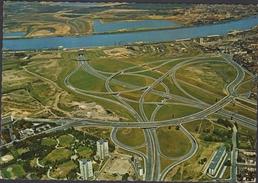 Grote Kaart Antwerpen Verkeerswisselaar E3 Kennedytunnel Schelde Kielparkblokken Kiel Renaat Braem - Antwerpen