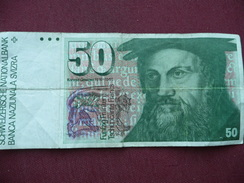 SUISSE Billet De 50 Francs Ayant Circulé - Suisse