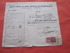 WW2 1941 Sté Anonyme Crédit Immobilier Des B.D.R Rue D'Oran Marseille Facture & Document Commercial+timbre Fiscal 2.40 F - 1900 – 1949