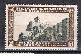 12è Anniversaire Du Mouvement Fasciste Saint Marinais N°186 - Saint-Marin