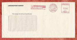 Brief, Hasler C48-4322, Interschutz Der Rote Hahn, 80 Pfg, Hannover 1988 (45420) - Covers & Documents