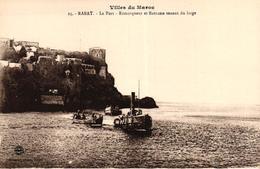 VILLES DU MAROC - RABAT - LE PORT REMORQUEUR ET BARCASSE VENANT DU LARGE - Rabat