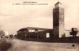 VILLES DU MAROC - RABAT - AVENUE DES TOUAREGS ET LA GRANDE MOSQUEE - Rabat