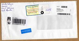 Enveloppe Brief Cover Recommandé Registered Blansko 1 à Ghlin Belgium - Czech Republic