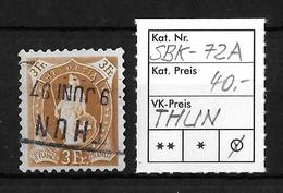STEHENDE HELVETIA Gezähnt → SBK-72A, Fahrpost THUN 9 JUNI 97 - 1882-1906 Armoiries, Helvetia Debout & UPU