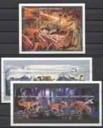 Malagasy Prehistoric Animals Dinosaurs Animaux Tiere 1998 Mi#1887-1892 Bl#274 MNH - Prehistorics