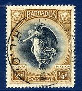 BARBADOS 1920 Victory ¼ D.  Fine Used.  SG 201 - Barbados (...-1966)
