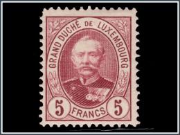 Luxembourg 0068*  Adolphe 1er  5F  H - 1891 Adolfo Di Fronte