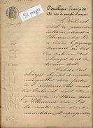 VP6728 - VILLENEUVE SUR LOT - Acte De 1885 - Jugement Faillite Du Sieur Antoine LATTIERE Escompteur à SAINTE LIVRADE - Manuscripts