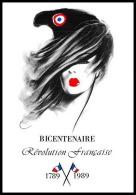 670 France Bicentenaire Révolution Francaise Carte Postale Bicentenaire Philexfrance 89 - French Revolution