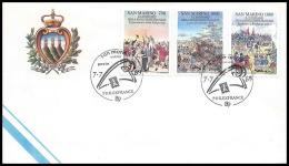 698 San Marin (san Marino)  Bicentenaire Révolution Francaise Fdc Philexfrance 89 - French Revolution