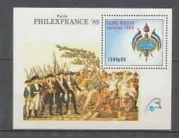 723 Guinee Bissau Bicentenaire Révolution Francaise Bloc Philexfrance 89 - French Revolution