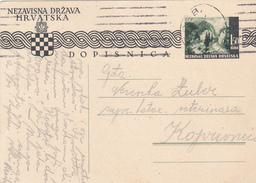 DOPISNICA  --  NEZAVISNA DRZAVA HRVATSKA  -  NDH  --  1942 - Croatia