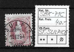 STEHENDE HELVETIA Gezähnt → SBK-71C, S.SULPICE 13.III.94 - 1882-1906 Armoiries, Helvetia Debout & UPU
