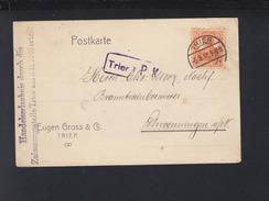 Dt. Reich PK 1918 Trier Zensur Handelserlaubnis - Briefe U. Dokumente