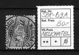 STEHENDE HELVETIA Gezähnt → SBK-69A, NEUCHÂTEL 27.III.95 - Oblitérés