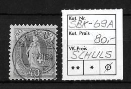 STEHENDE HELVETIA Gezähnt → SBK-69A, SCHULS 11.VII.84 - Oblitérés