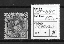 STEHENDE HELVETIA Gezähnt → SBK-69C, SCHULS 3.XII.92 - 1882-1906 Armoiries, Helvetia Debout & UPU