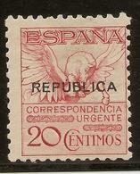 Locales República   ALMERIA  Edifil  8b*  Mh 20 Céntimos Rosa Urgente    NL1154 - Republikeinse Uitgaven